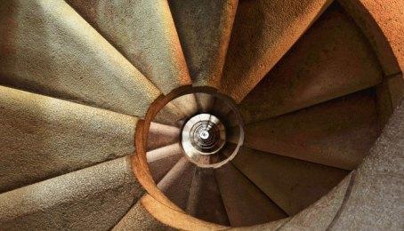 escalier spirale cercle sans fin